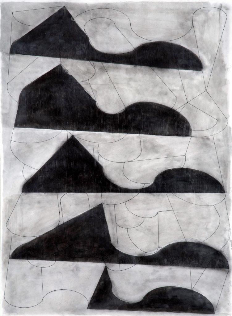 sin título, técnica mixta sobre cartulina, 70 x 95 cm, 2016.