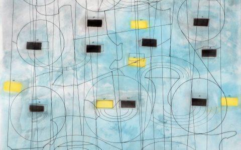 sin título, técnica mixta sobre cartulina, 70 x 95 cm, 2017