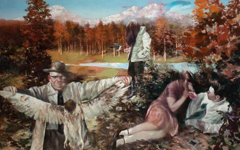 The Bribe, 2016, pintura con temple de huevo y pigmentos, 200 x 250 cm.