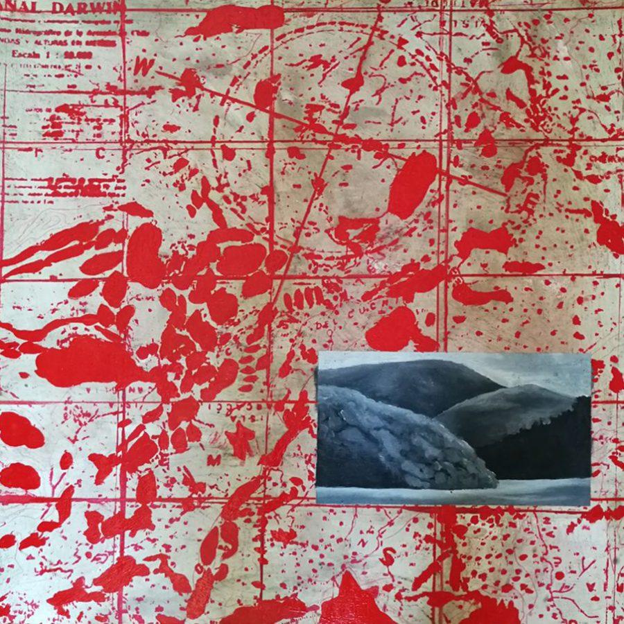 Ismael Frigerio (2005). Cien dias al final del mundo. Óleo, ancaustica sobre papel, 60 x 60 cm