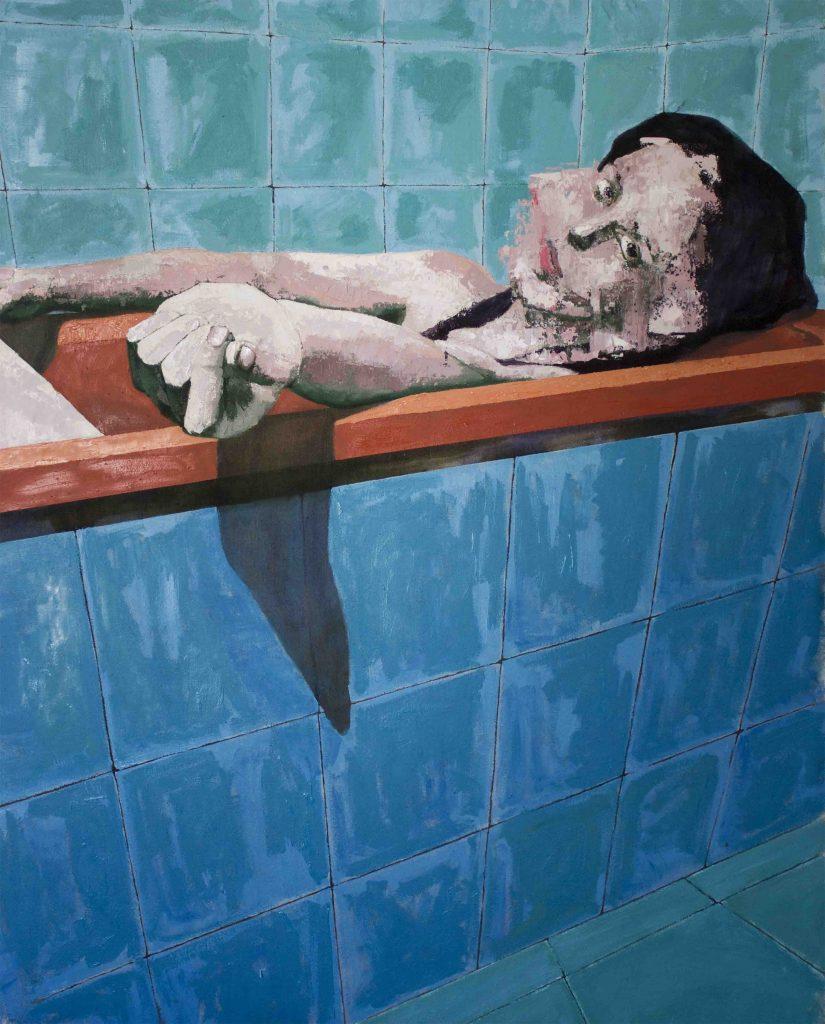 Joaquin Reyes, Pintura2. Acrílico sobre tela. 2017 100 x 80 cm