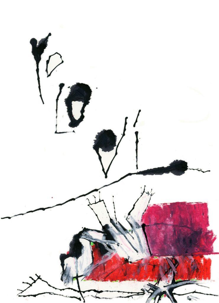 De la serie Caligrafía del Alma, Sin título, técnica mixta, 33 x 24 cm.