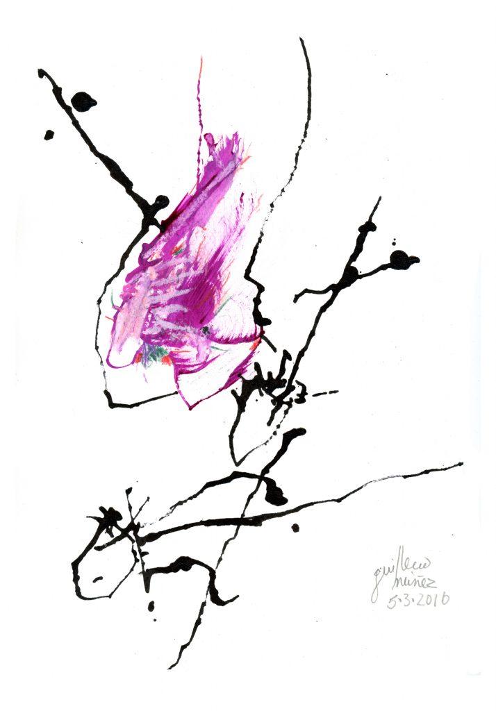 De la serie Caligrafía del Alma, Sin título, 2016, técnica mixta, 33 x 24 cm.
