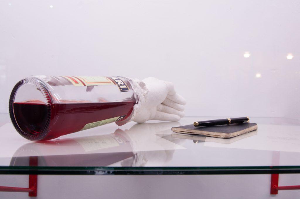 """Registro de la muestra """"IO"""" de Rodrigo Araya. Desplazamiento temporal 2014."""