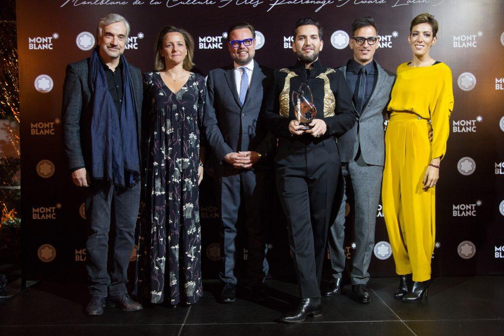 Premiación Montblanc a Juan Yarur