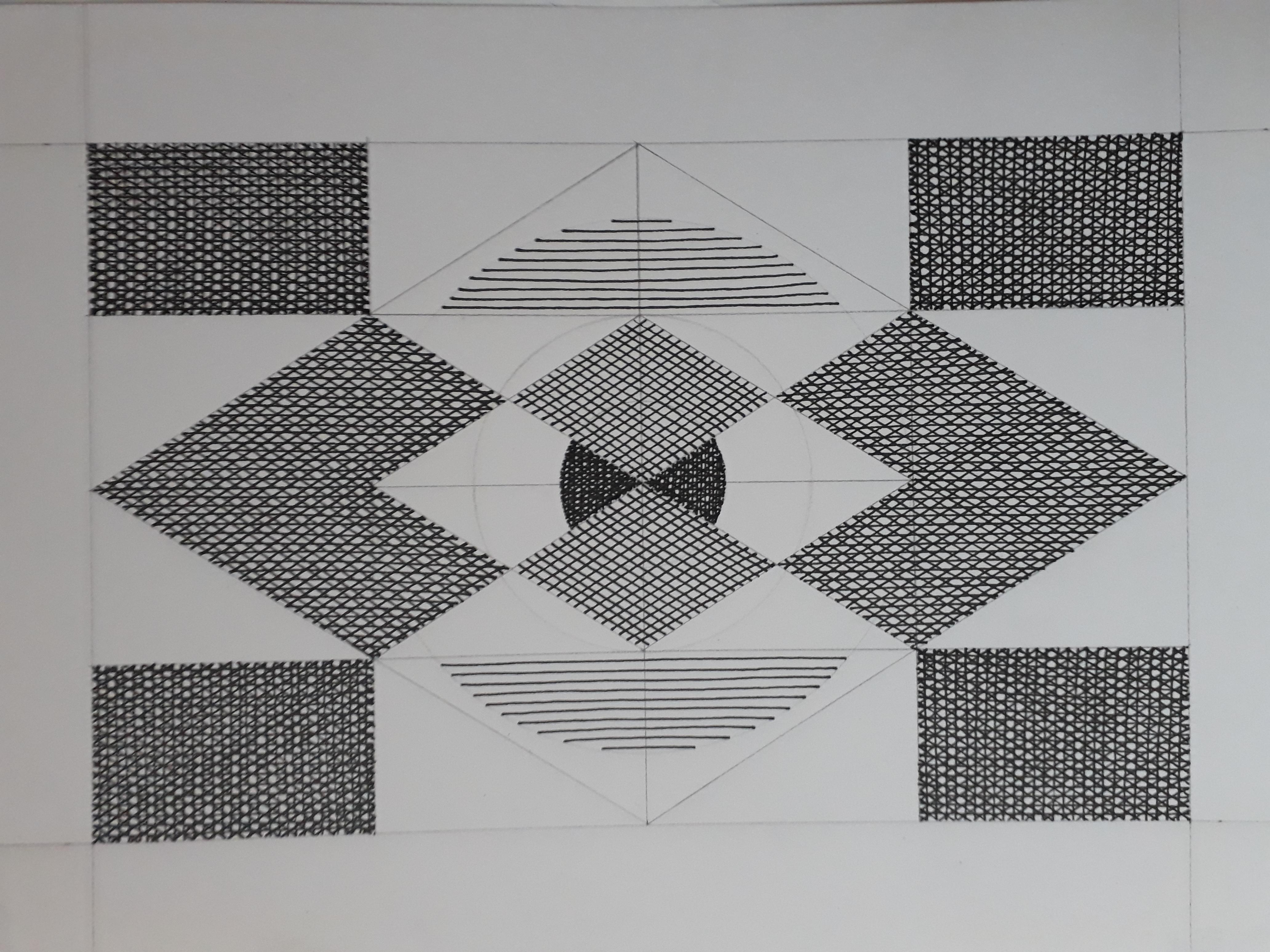 Claudia Osorio. Frecuencias. Dibujo sobre papel fabriano. 30 x 21 cm. 2018.