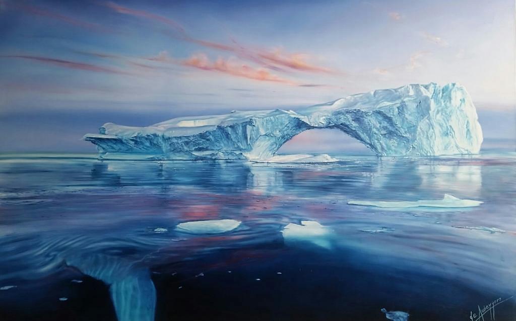 Ice mountain (Óleo sobre tela-2.00x1.30m.)