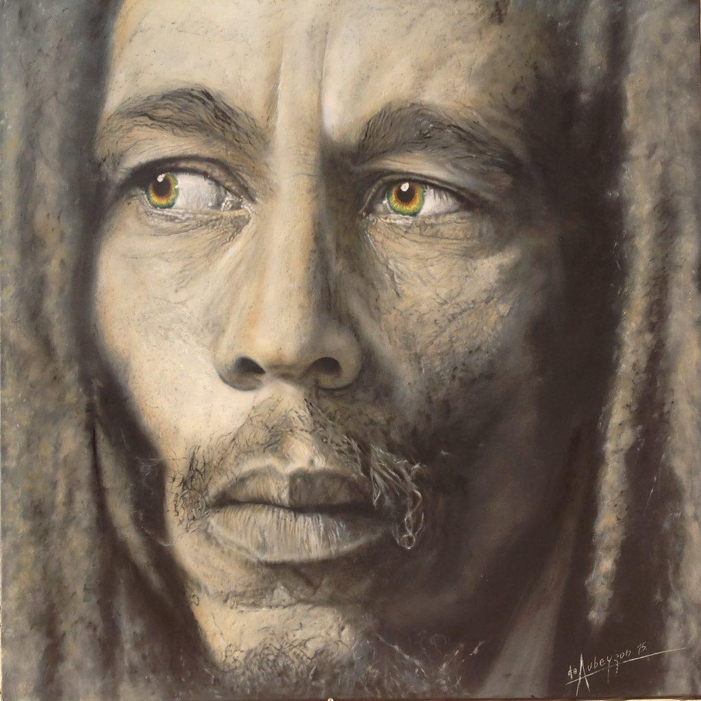 Marley (Lápiz y óleo sobre tela -1.20x1.20m.)