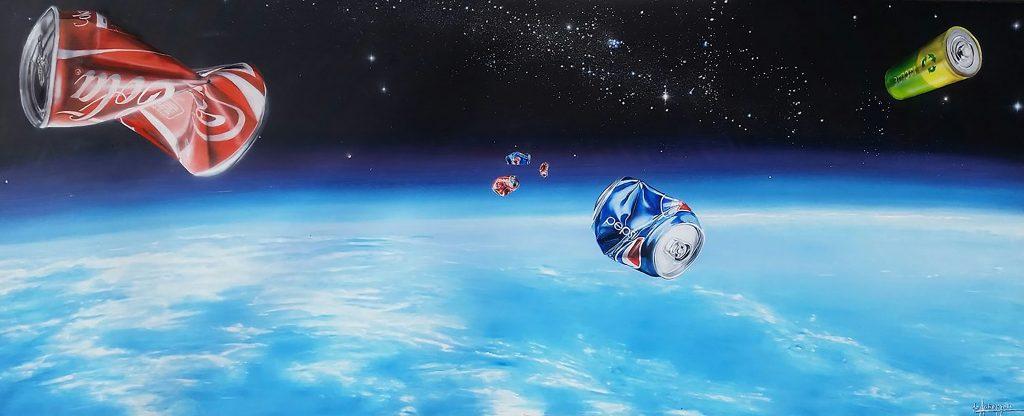 Space Trash II (Óleo sobre tela -)