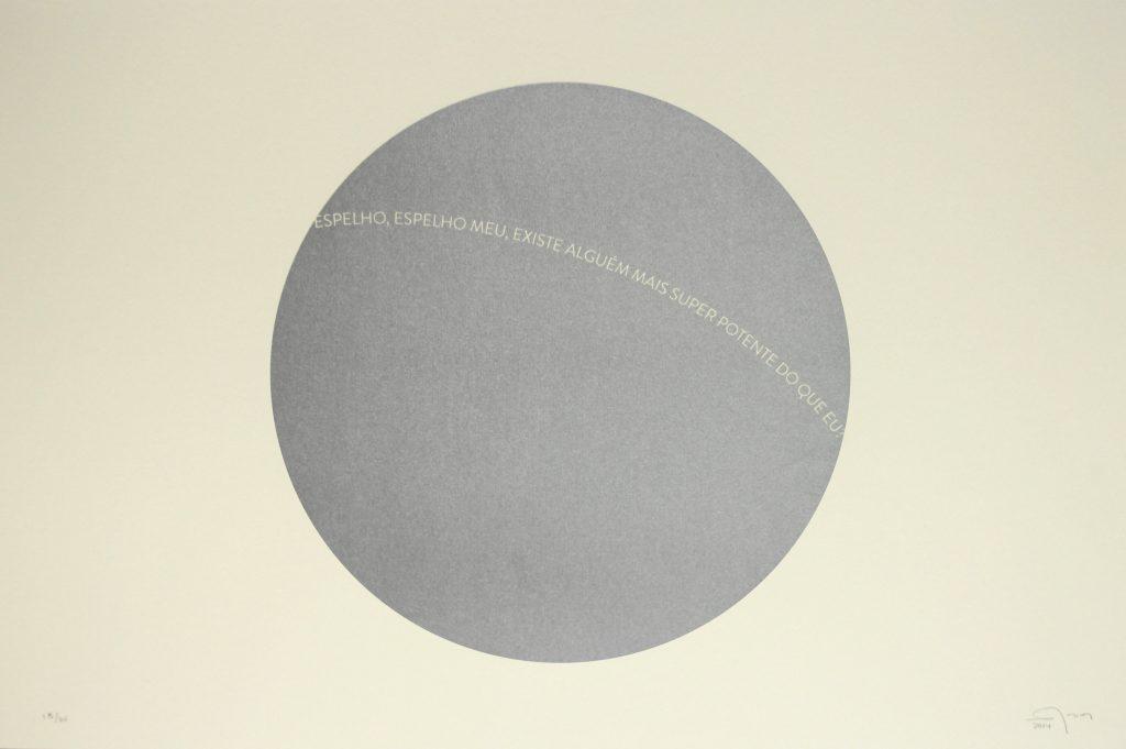 Fernando Arias. Espelho, espelho, 2014, serigrafía sobre papel, 40 x 30 cm.