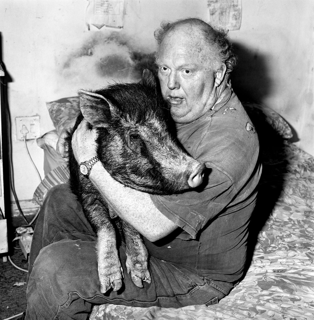 Outland – Brian with pet pig, 1998