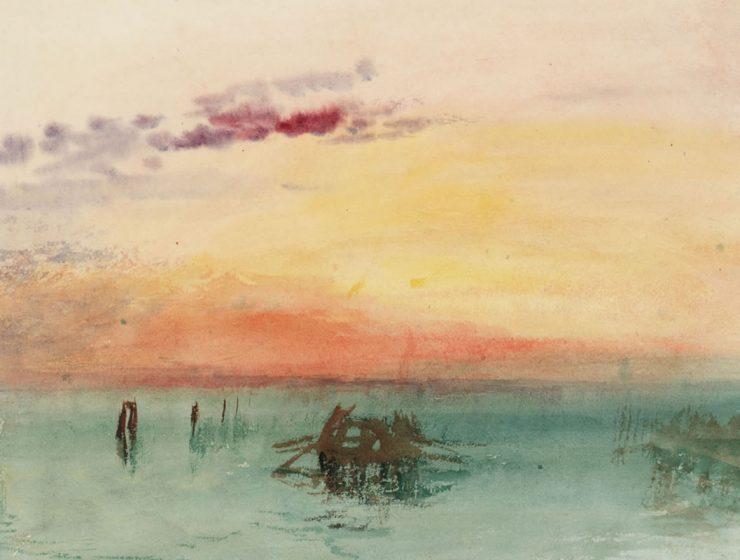 Venecia: vista a través de la laguna en el crepúsculo, 1840, JMW Turner (1775 - 1851) © Tate, London 2019