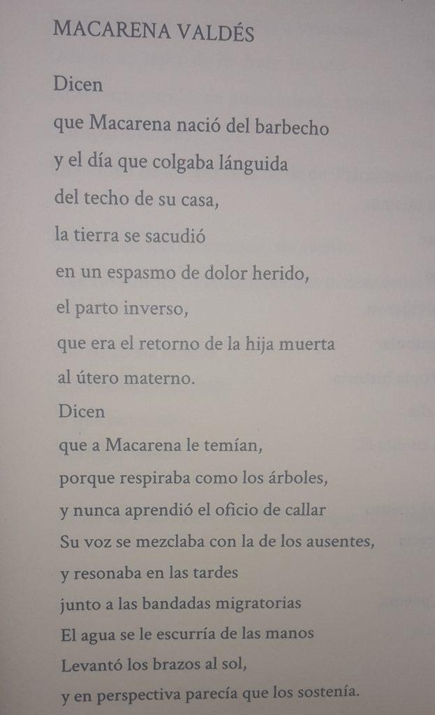 Victoria Herreros Schenke, Macarena Valdés (fragmento)