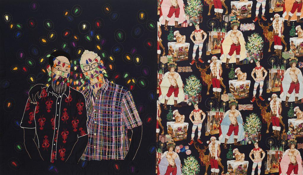Chiachio & Giannone, El Regalo, 2015, Bordado a mano sobre tela, 125 x 210 cm_IsabelCroxattoGaleria
