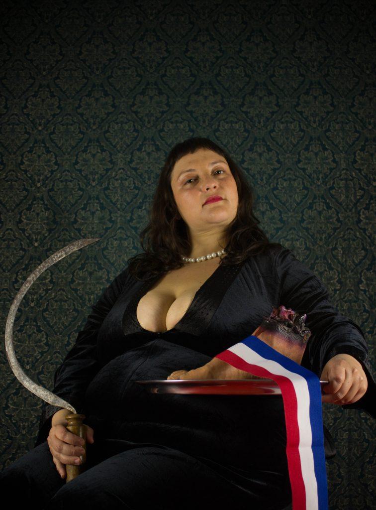 """Obra de Rocío Hormazábal, """"El pie del presidente"""". Foto por Manuela González @manuela_gs"""