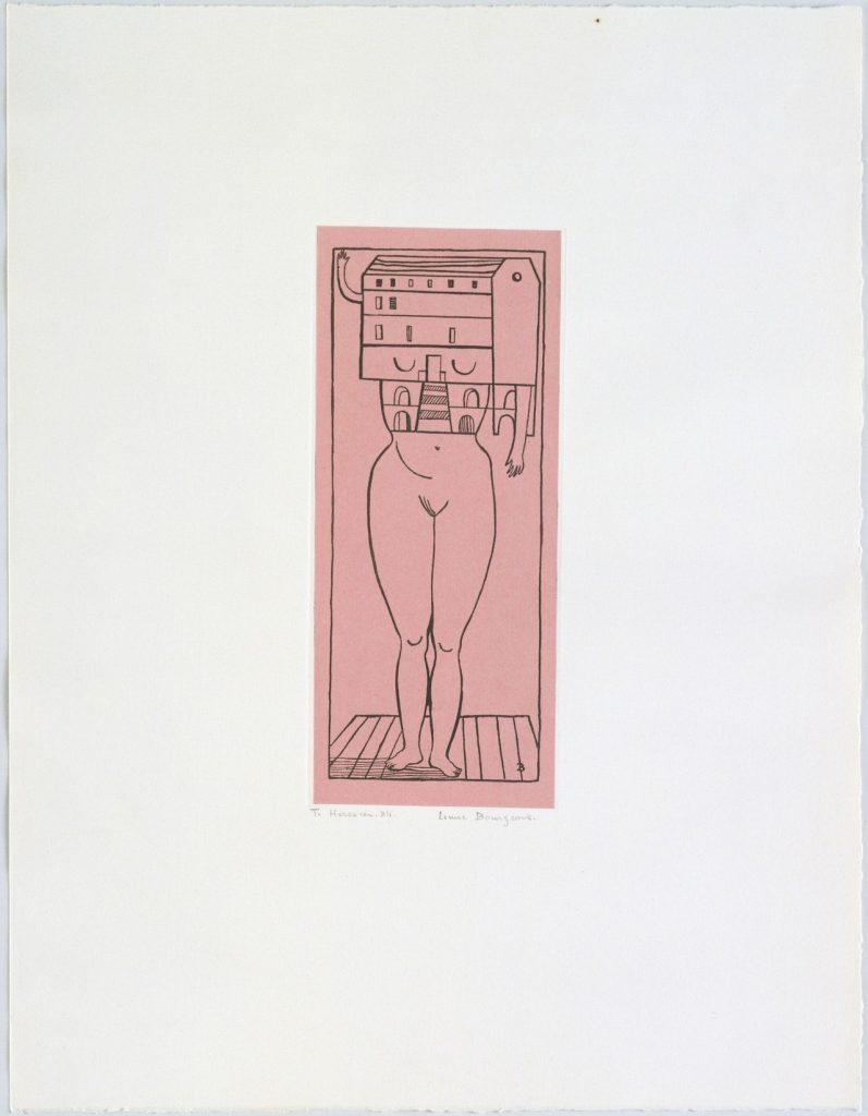 Louise Bourgeois, Femme Maison, 1984. Fotograbado en chine collé, 49x38 cm. MoMA, Nueva York.