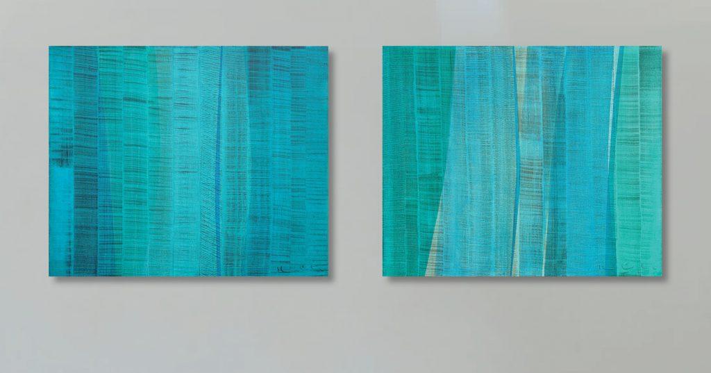 Arpegio, Oleo y pigmentos sobre lino 60 x 50