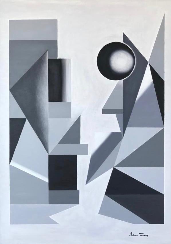 Estático, Nina Torres, Óleo sobre tela. 2020, 70x50cm
