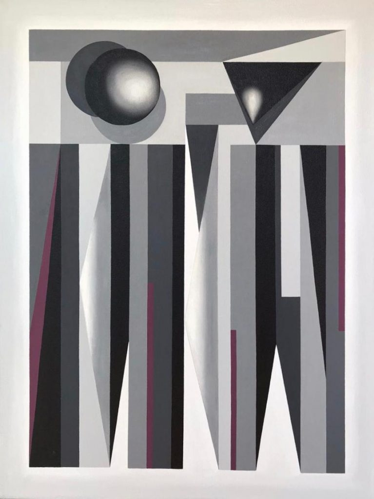 Coqueta, Nina Torres, Óleo sobre lino. 2020, 80x60 cm